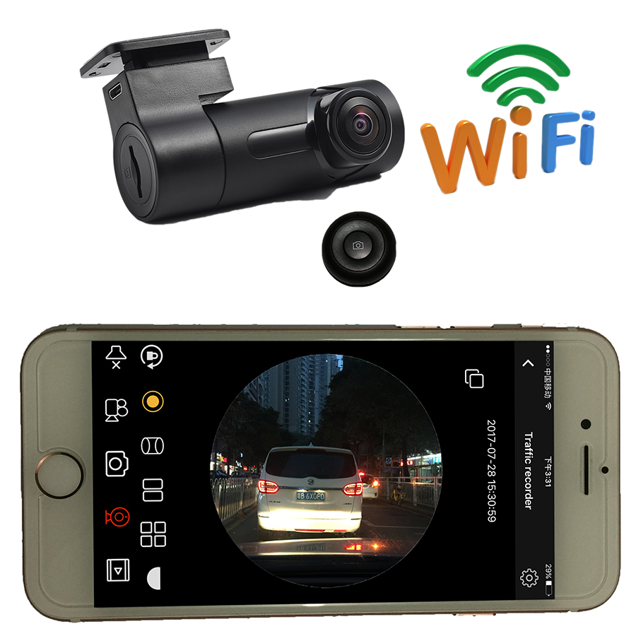 Udricare Car Truck Mini Hidden WiFi DVR Wide Angle Dash Cam Camera Night Vision DVR Video Recorder Camcorder WiFi Camera DVR