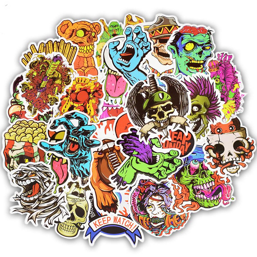 50er Terror Serie Aufkleber Graffiti Skeleton Dark Lustige Aufkleber - Klassisches Spielzeug - Foto 2