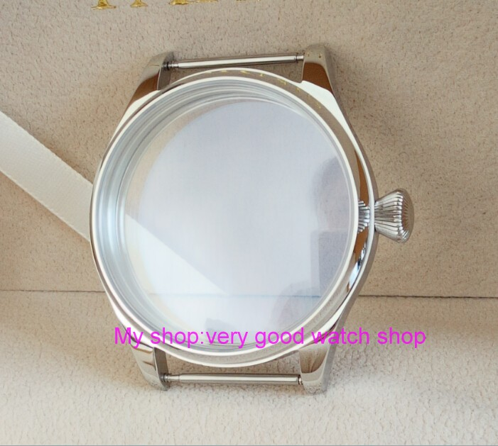 parnis 44MM 316L stainless steel watch case fit 6497/6498 Mechanical Hand Wind movement 01 44mm watch 316l stainless steel rose golden plated case fit 6498 6497 movement12