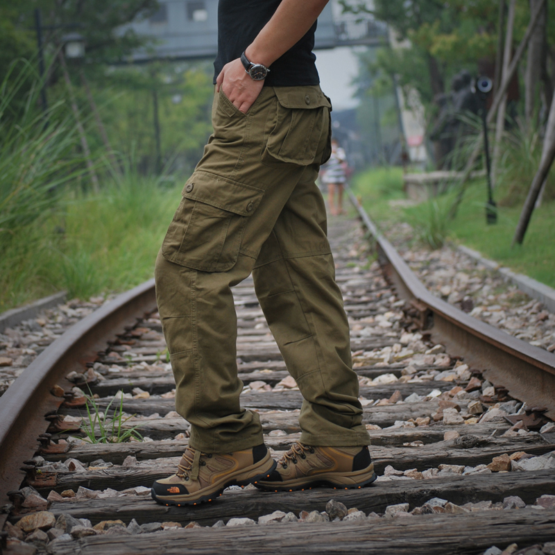 Pants For Men Nice Autumn New Multi Pockets Cargo Pants Fashion Plus Size Loose Mens Casual Long Trousers 6Colors 21-66 Retails