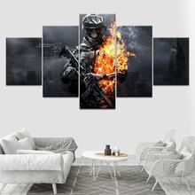 Battlefield 3 game poster 5 Piece HD Wallpapers Art Canvas Print modern Poster Modular art painting for Living Room Home Decor цены