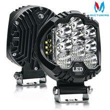 цена на MICTUNING 2pcs 5 58W LED Work Light Spot Flood Combo Driving Fog Lamp LED Work Light for off-road Truck Car ATV SUV J-eep Boat