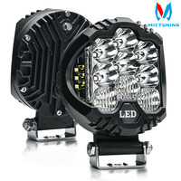 MICTUNING 2pcs 5 58W LED Work Light Spot Flood Combo Driving Fog Lamp LED Work Light for off road Truck Car ATV SUV J eep Boat