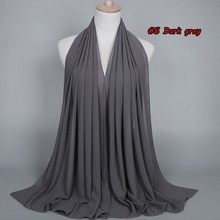 New Color  jersey scarf ,hijabs bubble chiffon ,shawls plain scarves