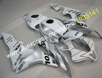 Hot Sales,For Honda CBR600RR F5 2007 2008 Silver Cowling Kit CBR600 RR 07 08 CBR Repsol Motorcycle Fairings (Injection molding)