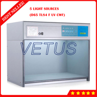5 Light Sources D65 TL84 F UV CWF Color Assessment Cabinet Color Matching Cabinet Light Box T60