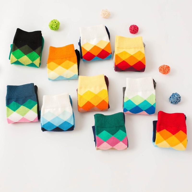 Underwear & Sleepwears Original Male Tide Brand Men Cotton Socks Gradient Color Summer Style Long Wedding Sock Mens Knee High Business Socks Man Sox