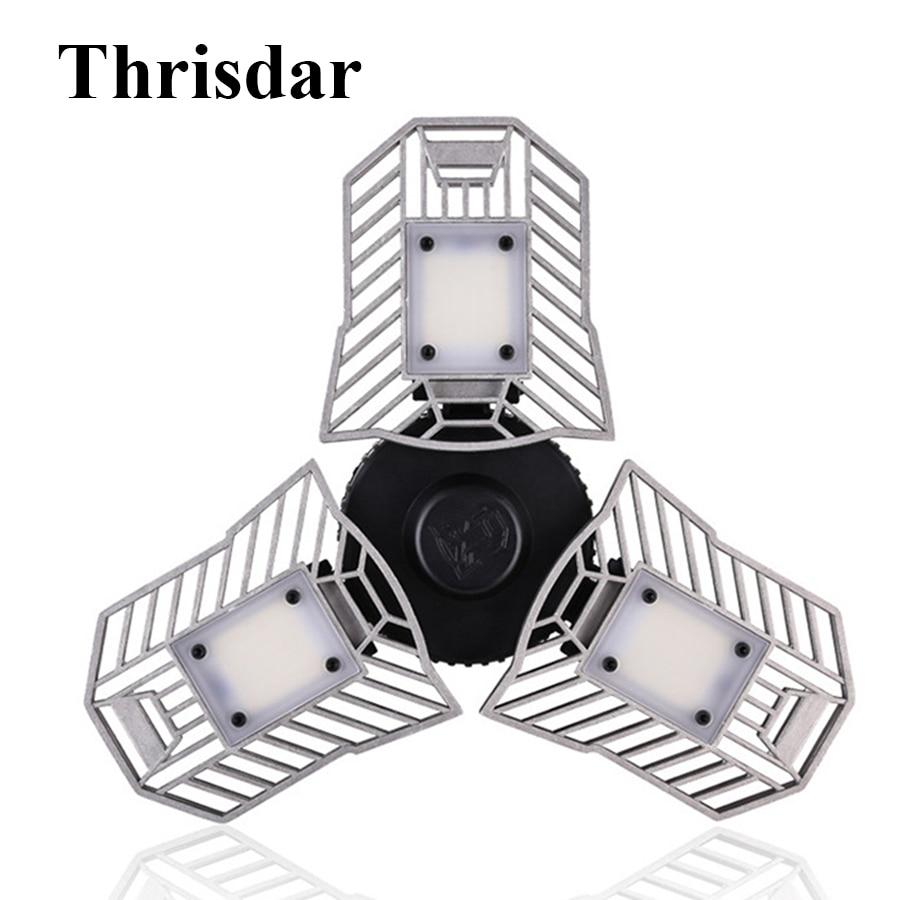 Led Deformable Radar Garage Light Motion Activated Ceiling: Thrisdar 60W Motion Sensor Deformable LED Garage Light E27