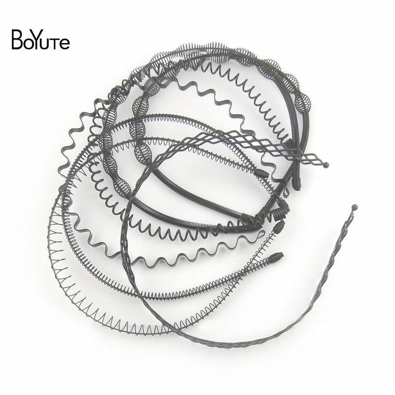 BoYuTe Retail 1 Piece Metal Black Hair Band Hairband New Style Black Color Metal Headband