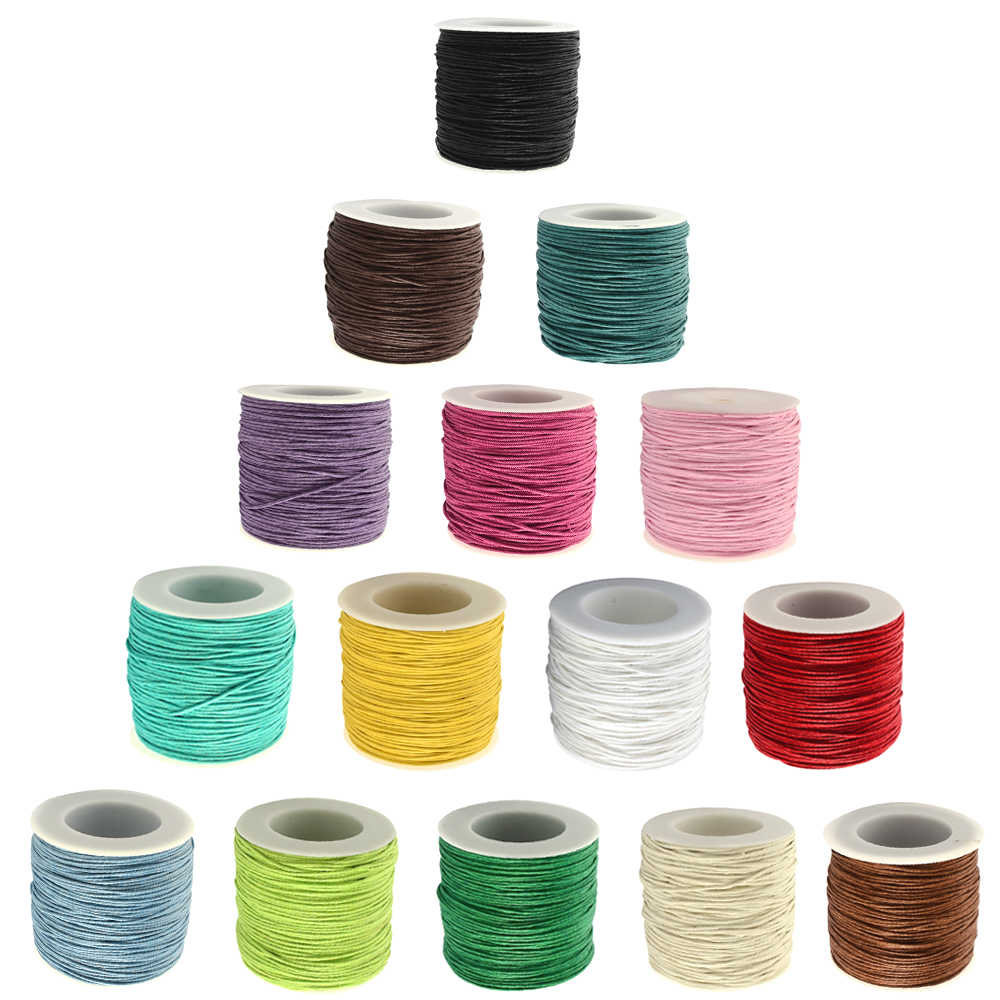 1mm 84m/Roll Thread Cotton Cords Waxed Cord Beads Cord Waxed String Wax Cord For DIY Jewelry Making Bracelets Accessories