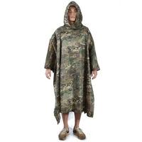 Multifunctional Military Impermeable Camo Raincoat Waterproof Rain Coat Men Women Camping Fishing Motorcycle Rain Poncho