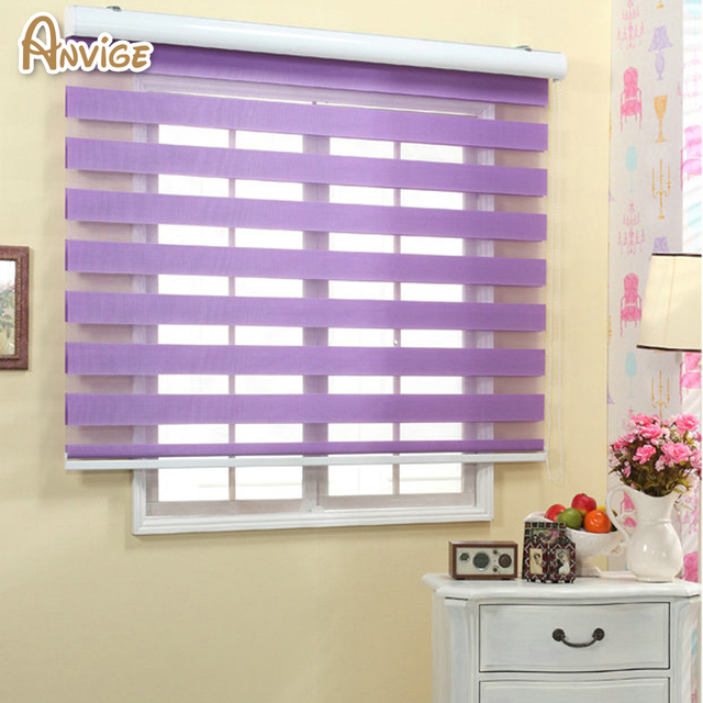 Zebra Blinds Roller Shutter Double Layer Shade Customized Curtains ...