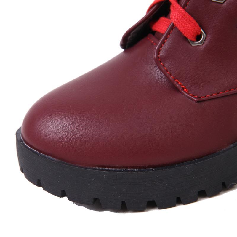 Fur Donne Platform Lace Cloth Delle Cloth Signore Fur black Alto 39 white Black Formato red red Cloth Tacco Calzature Leatter Up Inverno Fur Cloth white Stivali Shoes Spessore Scarpe Caldi gray 34 Di gray Fur FqWdqS0