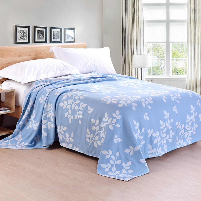 ФОТО 100% Cotton Soft and Comfortable Summer Blankets 150*200cm Pastoral Style Towel Blankets Multiple-Use Sheets