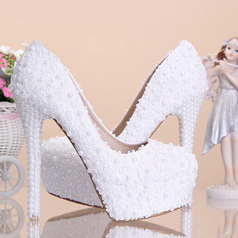 ФОТО Beautiful Rhinestone Anniversary Party Shoes Wedding Dress Bridal Shoes White Lace Wedding Shoes for Mom Bridesmaid Shoes