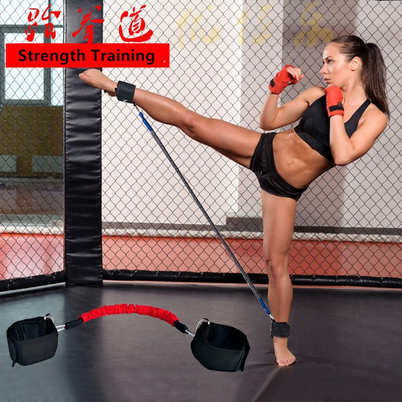 Taekwondo Boxing Leg Resistance Bands Natural Latex Football Trainer Leg Strength Training Elasticity Ankle Straps Pull Rope