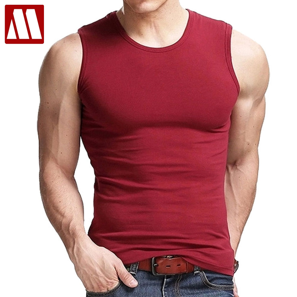 8e969ebe2f Free shipping 2019 summer upscale mens fashion V-neck sleeveless wide  shoulder Tank top fitness vest stretch cotton S M L XL XXL