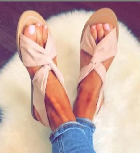 Comfortable Sandals Female Shoes Summer Wedge Slip-On Plus-Size Woman Ladies 35-44