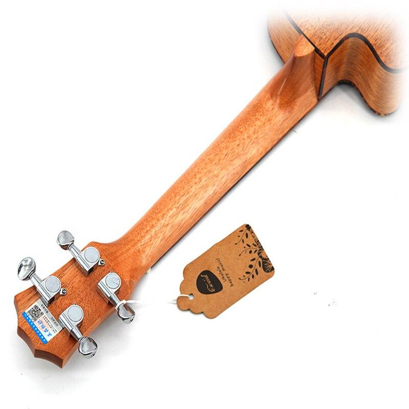 SevenAngel 23 pouces Concert ukulélé acajou manquant Angle ukelelehawian 4 cordes Mini guitare électrique Uku avec ramassage EQ - 3