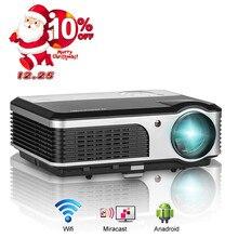 Caiwei 3800 люмен Проектор для домашнего кинотеатра 1080 P Full HD HDMI фильм цифровой светодиодный проектор ТВ USB AV компонентного видео