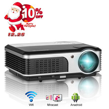 Big sale CAIWEI 3800 Lumens Home Theater Projector 1080P Full HD HDMI Movie Digital LED Projector TV USB AV Component Video