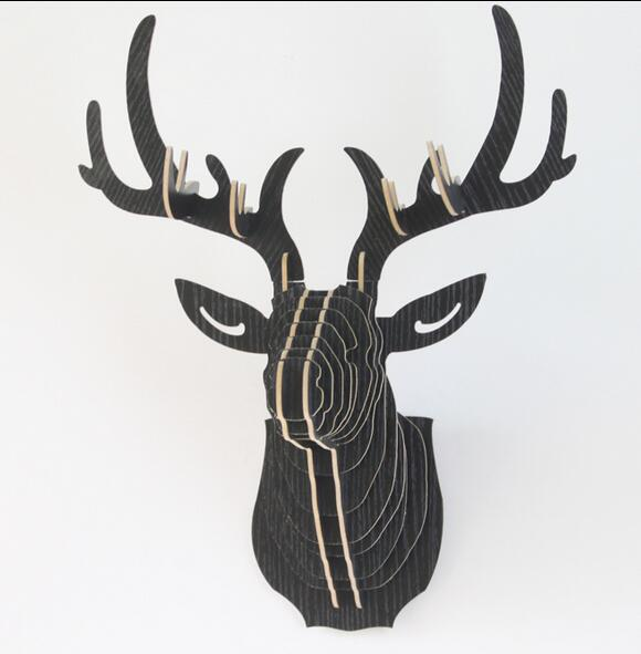 DIY Deer Head, Wooden Animal Head for Wall Decor