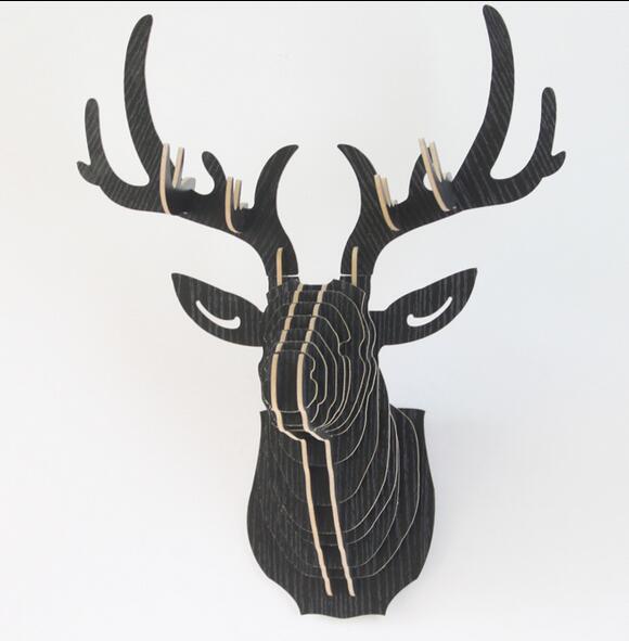 Aliexpress Buy Diy Deer Head Wooden Animal Head For