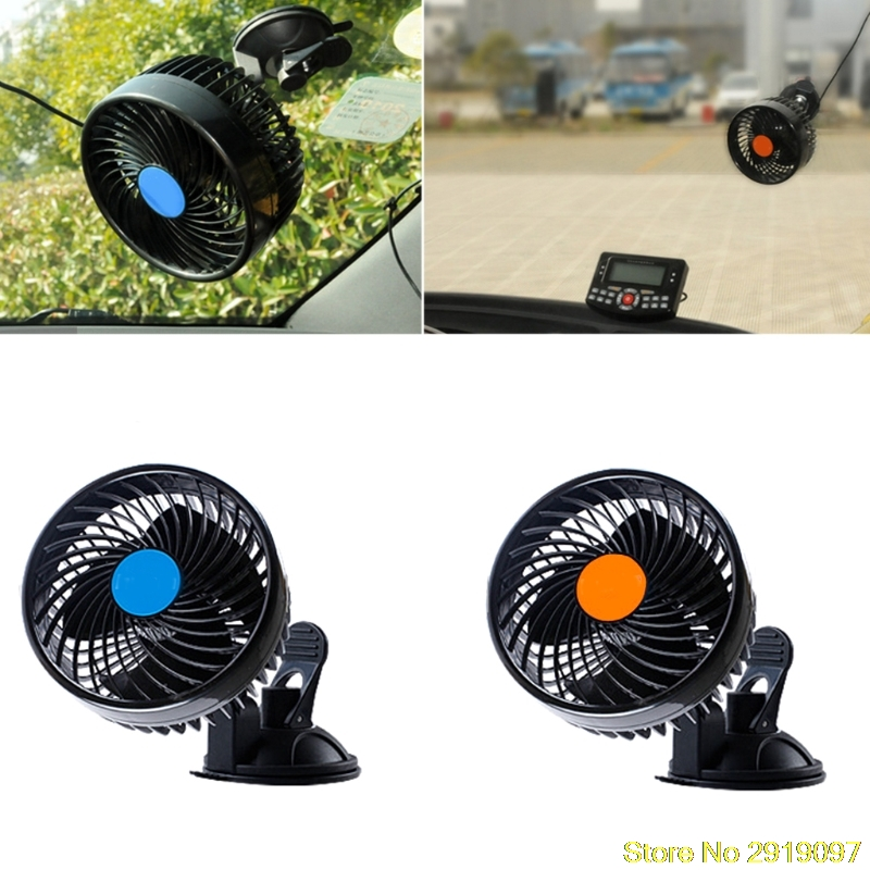 New Electric Car Fan 12v Strong Wind Low Noise Summer