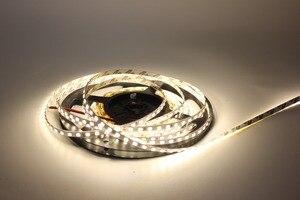 "Image 5 - 12 V 2835 LED רצועת 5 מ""מ Slim רצועת IP20 ללא עמיד למים 120 נוריות/M 5 m/רצועת גליל הוביל לבן/לבן חם לבן PCB"