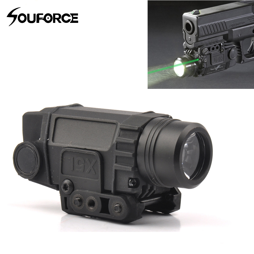 Tactical Green Laser Sight with LED Flashlight Combo with 20mm Universal Mount for Rifle Pistol Handgun hunting compact tactical green laser sight flashlight combo low profile pistol handgun light with 20mm picatinny rail