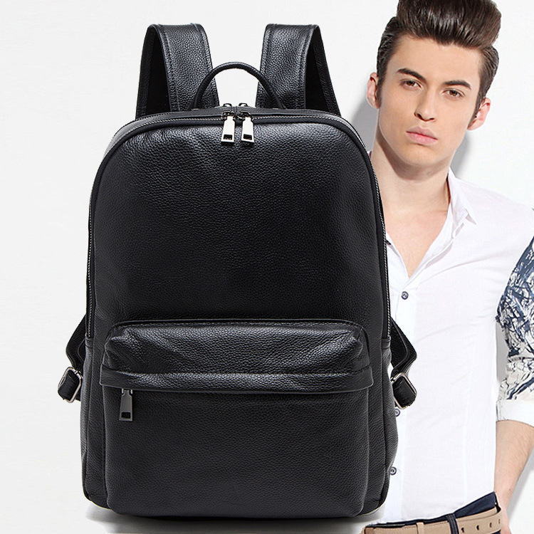 Men Bag Genuine Leather Men's Backpack Male Natural Leather Laptop Computer Bags Waterproof Travel Bag School Bags Free Shipping