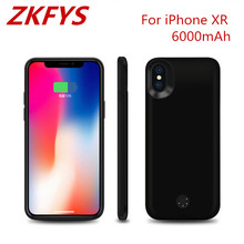 ZKFYS 6000mAh Portable Ultra Thin Fast Charging Case For iPhone XR External Power Bank Pack Battery Cover