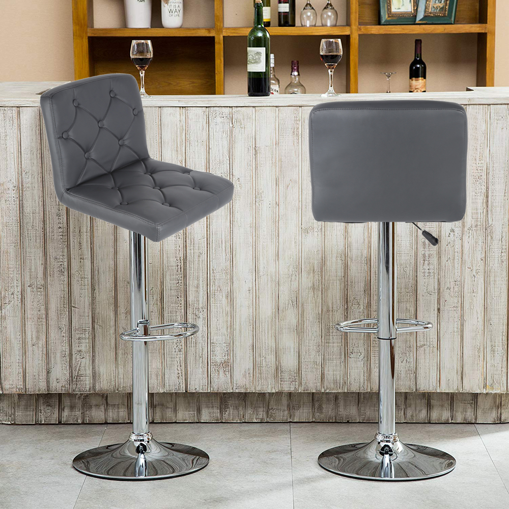 Stylish 2pcs Swivel Bar Chair Sillas Rotating Lifting Bar Stools Modern Synthetic High Stool Chair Home Comerecial Funiture HWC