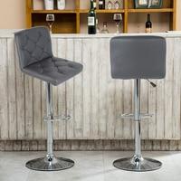 Stylish 2pcs Swivel Bar Chair Sillas Rotating Lifting Bar Stools Modern Synthetic High Stool Chair Home Comerecial Funiture HWC