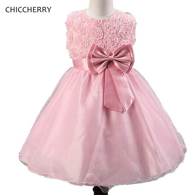 Rosa 3D Rose Flores Vestido de La Muchacha Vestido de Baile de ...