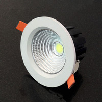 Free Shipping Dimmable COB 20W LED Downlight LED Down Light LED Recessed Light With The Powersupply