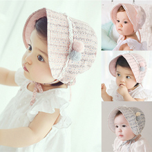 966604767b7 Spring Newborn Baby Summer Hat For Girls Bonnet Princess Hollow Baby Girls  Sun Hat Cap Lace