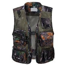 Men Outdoor Fly Fishing Vest Summer Hiking Hunting Multi-pocket Waterproof Waistcoat Professional Photography Jackets Plu Size