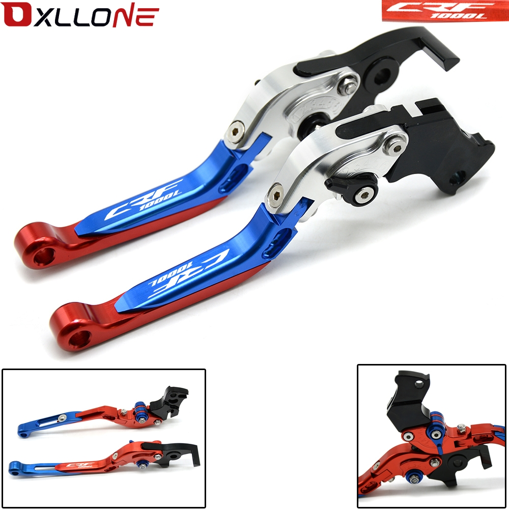 for Honda 12 Colors CRF1000L Africa Twin 2015-2018 CNC Motorcycle Adjustable Folding Brake Clutch Line CRF 1000L CRF 1000 L for honda crf1000l africa twin 2015 2018 foldable extendable clutch brake levers folding extending cnc 2016 2017 adjustable