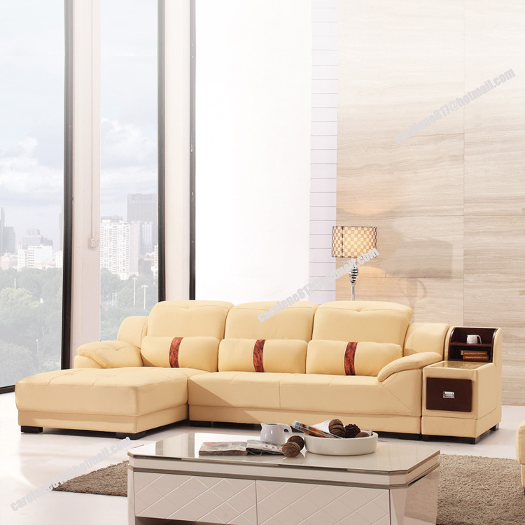 2014 new dubai furniture sectional luxury and modern corner leather living  room arab l shaped sofa design and prices set-in Living Room Sofas from  Furniture ...