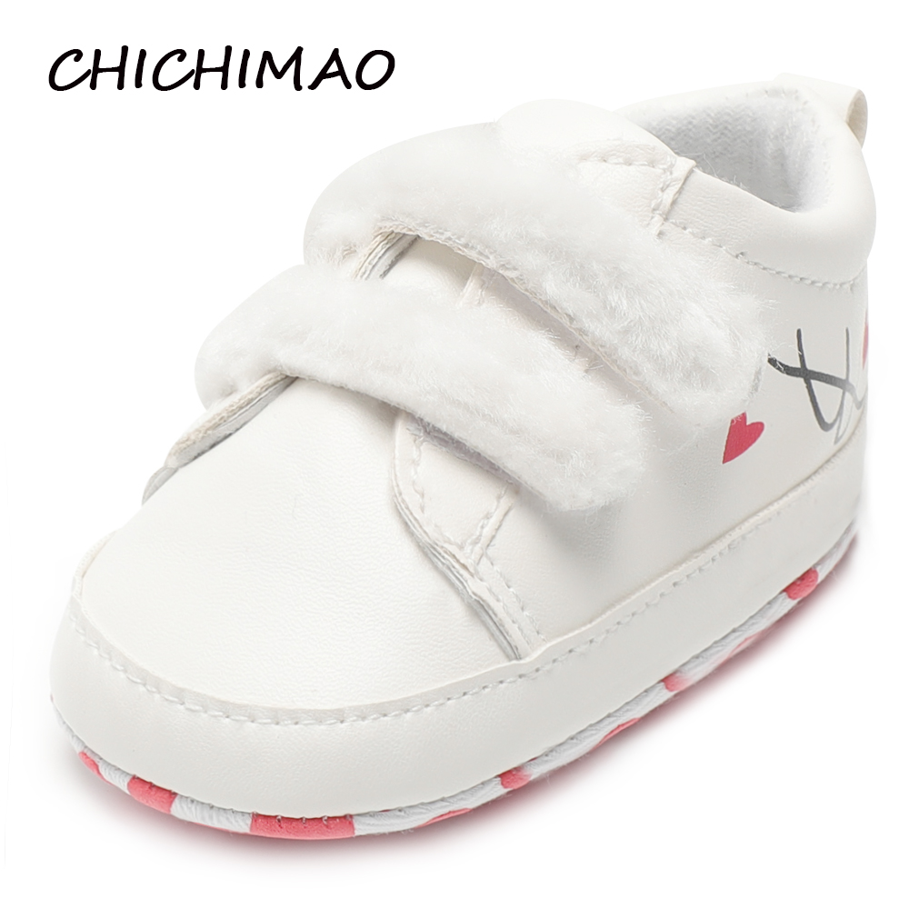 Fashion Baby Shoes Girls Infant Newborn Baby Girls Autumn Hook Loop First Walkers Sneakers Shoes Toddler Classic Casual Shoes