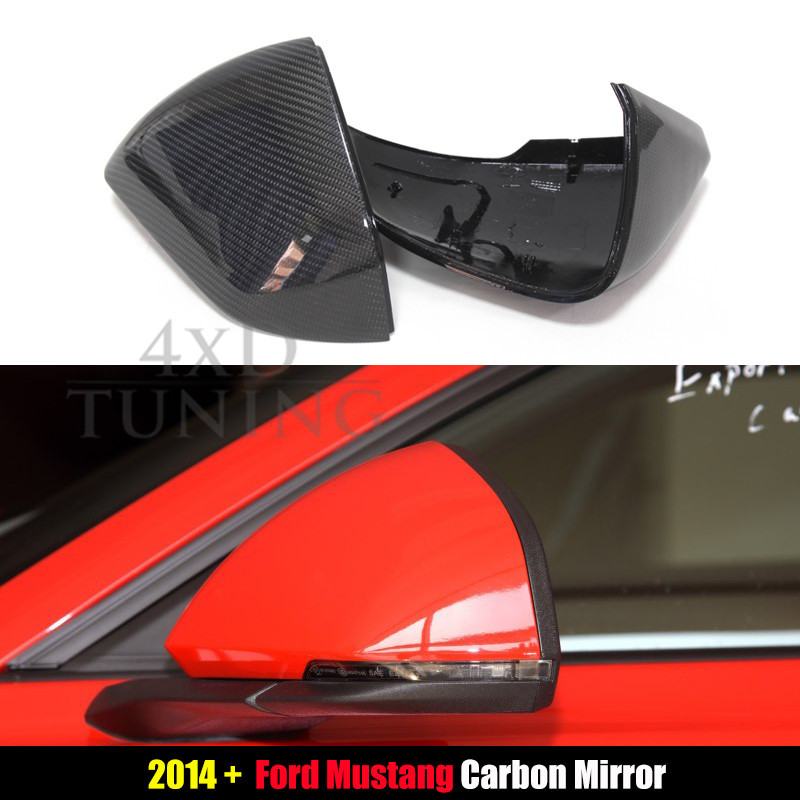 For Ford Mustang Carbon Mirror Cover Carbon Fiber Rear Side View Mirror Cover 2008 2009 2010 2011 2012 2013 2014 2015 2016 2017+ carbon fiber front fender mudguard for bmw s1000rr 2009 2017 2010 2011 2012 2013 2014 2015 2016