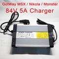 Электрический Одноколесный велосипед 84 в 5A зарядное устройство GotWay Nikola Msuper X Monster быстрое зарядное устройство подходит для GotWay все 84 в модел...