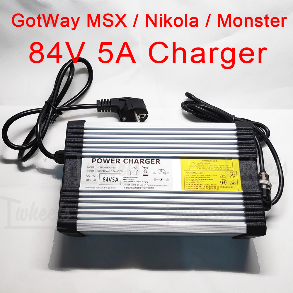 Electric unicycle 84V 5A charger GotWay Nikola Msuper X Monster fast charger fit to GotWay all 84V model EUC