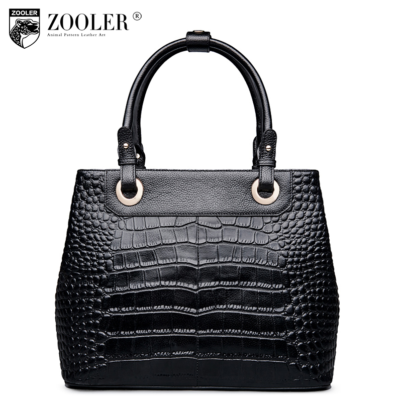 ZOOLER Genuine Leather Ladies Handbag Winter 2018 Fashion Tote Bags Handbags Women Famous Brands Female Messenger Shoulder Bag zooler women handbag elegant ol shoulder bag ladies cow leather handbags fashion corssbody bags designer genuine leather handbag