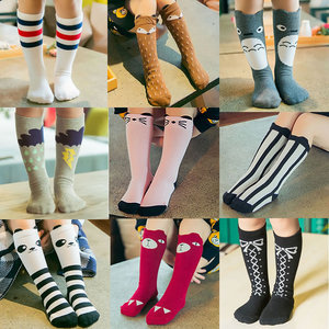 Baby Girls sock knee high Fox Cotton Cute Little Character Knee Socks Kid Clothing unisex Toddler Boot Socks Cartoon