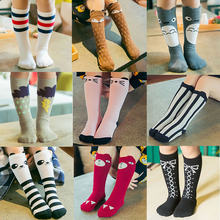 Baby Girls sock knee high Fox Cotton Cute Little Character Knee Socks Kid Clothing unisex Toddler Boot Socks Cartoon(China)