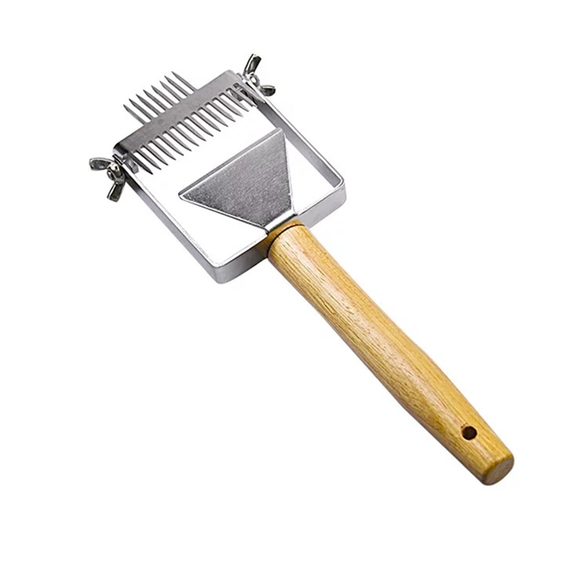 Adjustable Balanced Stainless Steel Double Needle Beekeeping Tools Suitable For Uncapping Forks Honey Honeycomb Scraper