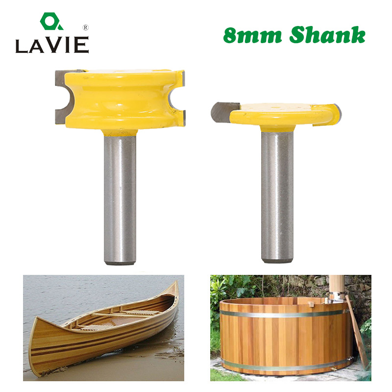 2 Pcs 8mm Shank Canoe Flute And Bead Router Bit Set Woodworking Tungsten Cobalt Alloy Wood Tenon Cutter Milling Bits Tools 02034