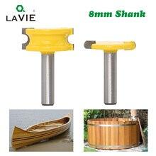 2 sztuk 8mm Shank kajak flet i koralik zestaw bitów rozwiertaków do obróbki drewna wolframu stopu kobaltu drewna frez tenonowy wiertła do frezowania narzędzia 02034